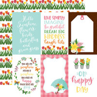 Echo Park - I Love Spring Collection - 12 x 12 Double Sided Paper - 4 x 6 Journaling Cards
