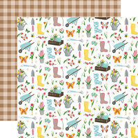Echo Park - I Love Spring Collection - 12 x 12 Double Sided Paper - Garden Party