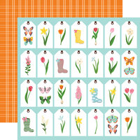 Echo Park - I Love Spring Collection - 12 x 12 Double Sided Paper - Spring Tags