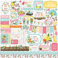 Echo Park - I Love Spring Collection - 12 x 12 Cardstock Stickers - Elements