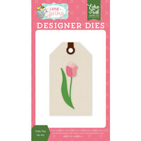 Echo Park - I Love Spring Collection - Decorative Dies - Tulip Tag