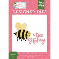 Echo Park - I Love Spring Collection - Decorative Dies - Bee Happy