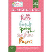 Echo Park - I Love Spring Collection - Decorative Dies - Hello Spring Word
