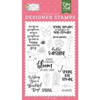 Echo Park - I Love Spring Collection - Clear Photopolymer Stamps - Spring Showers