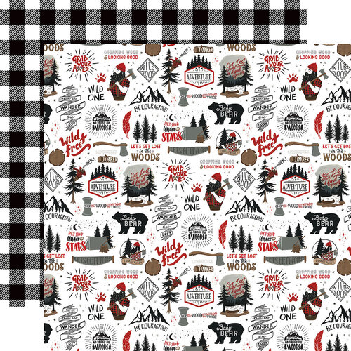 Echo Park - Let's Lumberjack Collection - 12 x 12 Double Sided Paper - Wild and Free