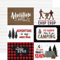 Echo Park - Let's Lumberjack Collection - 12 x 12 Double Sided Paper - 4 x 6 Journaling Cards