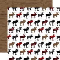 Echo Park - Let's Lumberjack Collection - 12 x 12 Double Sided Paper - Moose