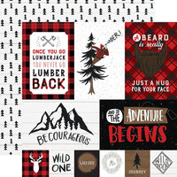 Echo Park - Let's Lumberjack Collection - 12 x 12 Double Sided Paper - Multi Journaling Cards