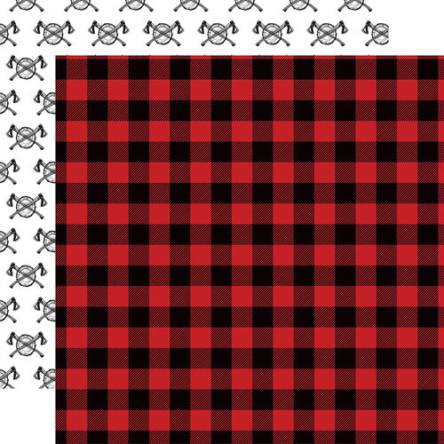 Echo Park - Let's Lumberjack Collection - 12 x 12 Double Sided Paper - Flannel