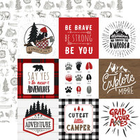 Echo Park - Let's Lumberjack Collection - 12 x 12 Double Sided Paper - 4 x 4 Journaling Cards