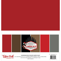 Echo Park - Let's Lumberjack Collection - 12 x 12 Paper Pack - Solids