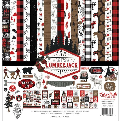 Echo Park - Let's Lumberjack Collection - 12 x 12 Collection Kit