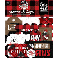 Echo Park - Let's Lumberjack Collection - Ephemera - Frames and Tags