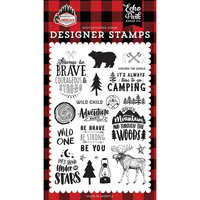 Echo Park - Let's Lumberjack Collection - Clear Photopolymer Stamps - Under The Stars