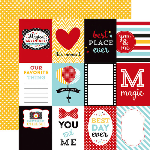 Echo Park - Magical Adventure Collection - 12 x 12 Double Sided Paper - 3 x 4 Journaling Cards