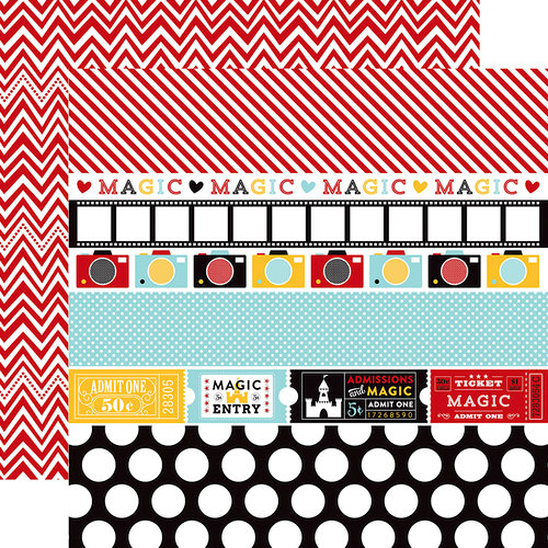 Echo Park - Magical Adventure Collection - 12 x 12 Double Sided Paper - Border Strips