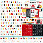 Echo Park - Magical Adventure Collection - 12 x 12 Cardstock Stickers - Alphabet