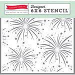 Echo Park - Magical Adventure Collection - 6 x 6 Stencil - Fireworks