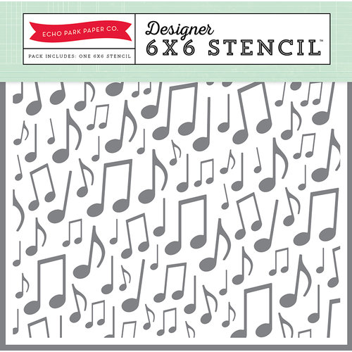 Echo Park - Magical Adventure Collection - 6 x 6 Stencil - Music Notes