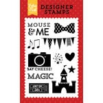 Echo Park - Magical Adventure Collection - Clear Acrylic Stamps - Mouse and Me