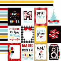 Echo Park - Magical Adventure 2 Collection - 12 x 12 Double Sided Paper - 3 x 4 Journaling Cards