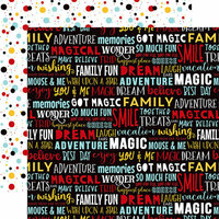 Echo Park - Magical Adventure 2 Collection - 12 x 12 Double Sided Paper - Dream Big Words