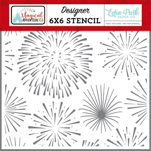 Echo Park - Magical Adventure 2 Collection - 6 x 6 Stencil - Dreamy Fireworks