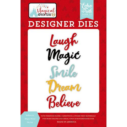 Echo Park - Magical Adventure 2 Collection - Designer Dies - Believe in Magic Word