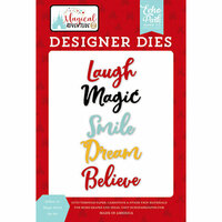 Echo Park - Magical Adventure 2 Collection - Designer Dies - Believe in Magic Word