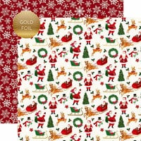 Echo Park - Merry and Bright Collection - Christmas - 12 x 12 Double Sided Paper with Foil Accents - Merry Christmas