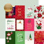 Echo Park - Merry and Bright Collection - Christmas - 12 x 12 Double Sided Paper with Foil Accents - 3 x 4 Journaling Cards