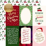 Echo Park - Merry and Bright Collection - Christmas - 12 x 12 Double Sided Paper with Foil Accents - 4 x 6 Journaling Cards