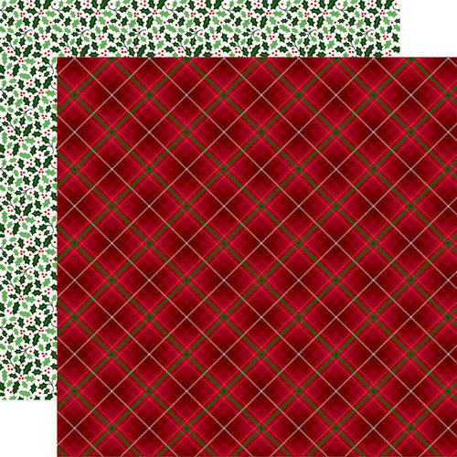 Echo Park - Merry and Bright Collection - Christmas - 12 x 12 Double Sided Paper - Holiday Plaid