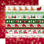 Echo Park - Merry and Bright Collection - Christmas - 12 x 12 Double Sided Paper - Border Strips