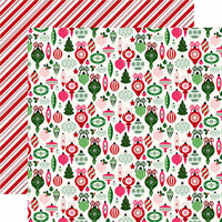 Echo Park - Merry and Bright Collection - Christmas - 12 x 12 Double Sided Paper - Trim The Tree