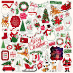 Echo Park - Merry and Bright Collection - Christmas - 12 x 12 Cardstock Stickers - Elements