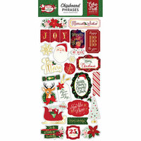 Echo Park - Merry and Bright Collection - Christmas - Chipboard Stickers - Phrases