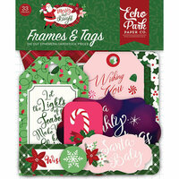 Echo Park - Merry and Bright Collection - Christmas - Ephemera - Frames and Tags
