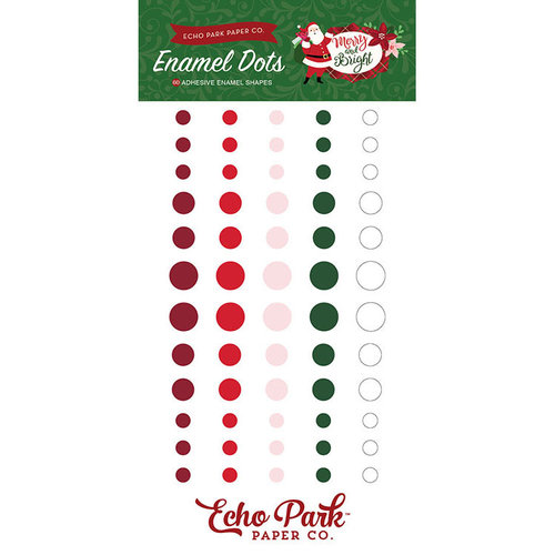 Echo Park - Merry and Bright Collection - Christmas - Enamel Dots