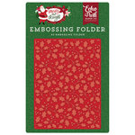 Echo Park - Merry and Bright Collection - Christmas - Embossing Folder - Holly Branch
