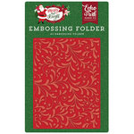 Echo Park - Merry and Bright Collection - Christmas - Embossing Folder - Holiday Flourish