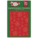 Echo Park - Merry and Bright Collection - Christmas - Embossing Folder - Frosted Snowflakes