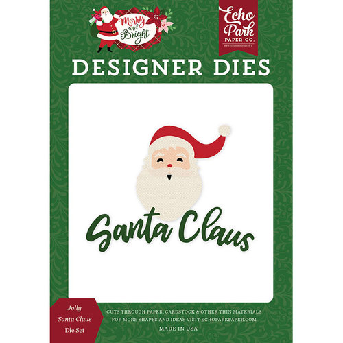 Echo Park - Merry and Bright Collection - Christmas - Designer Dies - Jolly Santa Claus