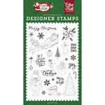 Echo Park - Merry and Bright Collection - Christmas - Clear Acrylic Stamps - Merry Christmas To You