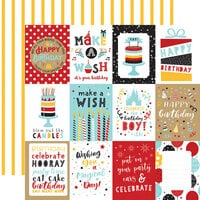 Echo Park - Magical Birthday Boy Collection - 12 x 12 Double Sided Paper - 3 x 4 Journaling Cards