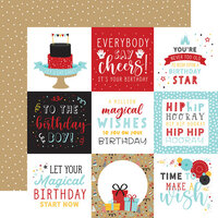 Echo Park - Magical Birthday Boy Collection - 12 x 12 Double Sided Paper - 4 x 4 Journaling Cards