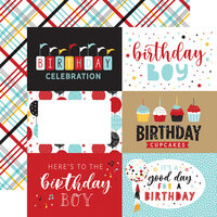 Echo Park - Magical Birthday Boy Collection - 12 x 12 Double Sided Paper - 6 x 4 Journaling Cards