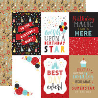 Echo Park - Magical Birthday Boy Collection - 12 x 12 Double Sided Paper - 4 x 6 Journaling Cards