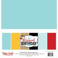 Echo Park - Magical Birthday Boy Collection - 12 x 12 Paper Pack - Solids