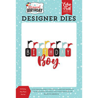 Echo Park - Magical Birthday Boy Collection - Designer Dies - Birthday Boy Flags